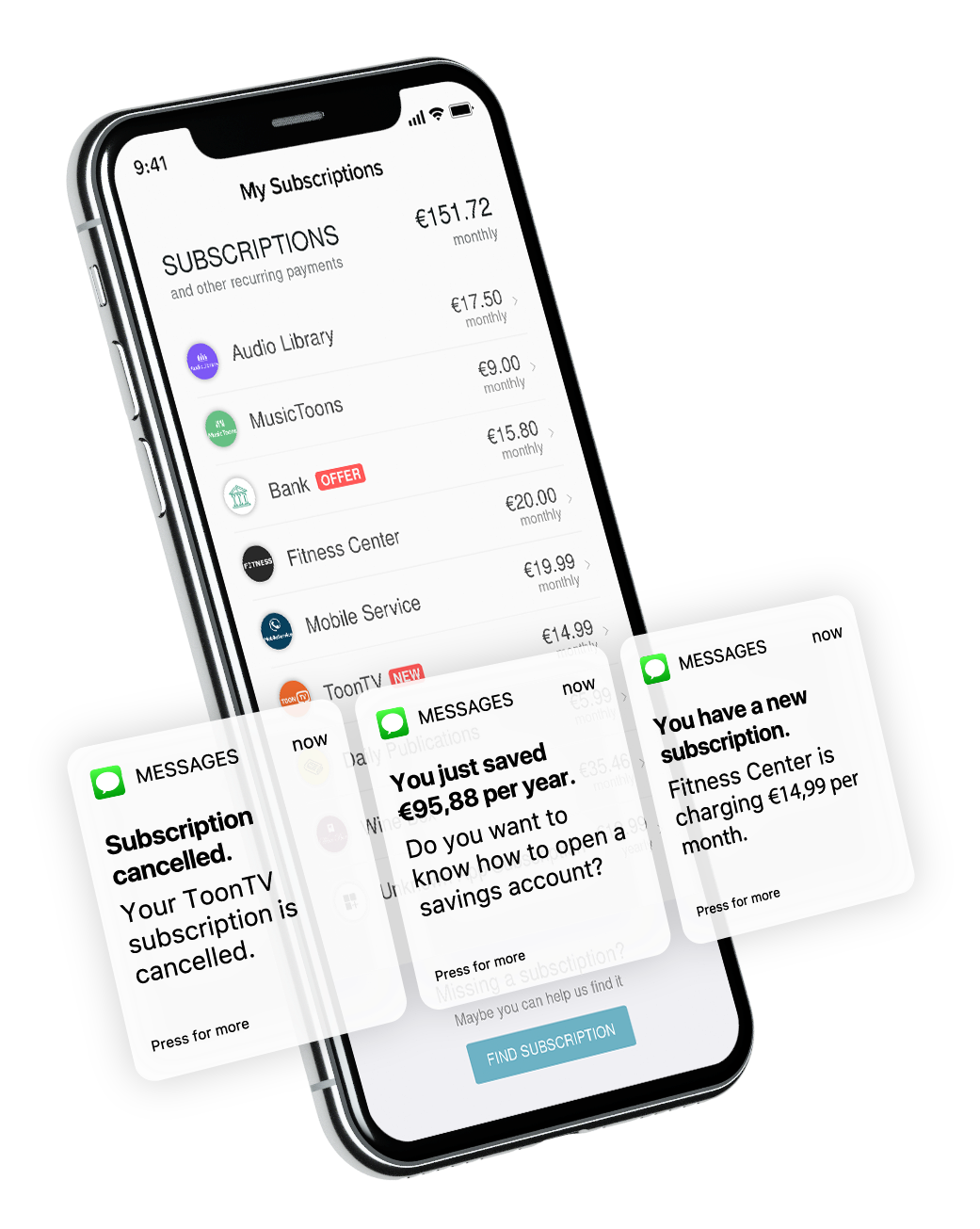 get notifications about subscriptions